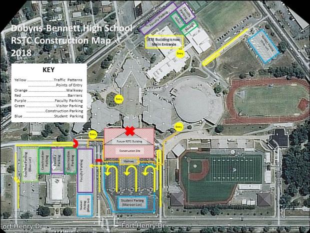 Dobyns-Bennett Construction Traffic Patterns 12-26-17